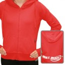 Woman Zip Hoody Red